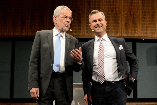 Norbert Hofer & Alexander Van der Bellen stellen sich am 4. Dezember nochmal der Stichwahl.