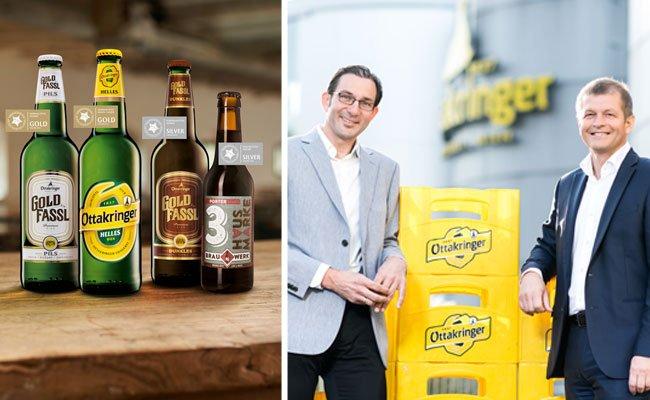 v.l.n.r.: Tobias Frank, Erster Braumeister der Ottakringer Brauerei und Matthias Ortner, Vorstand der Ottakringer Brauerei