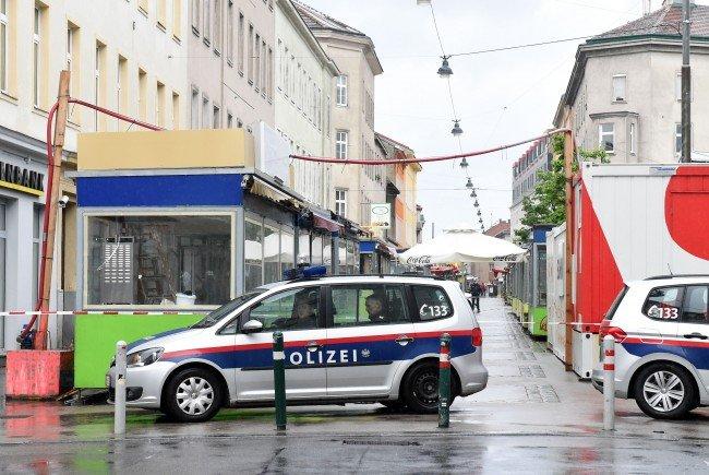 Am Tatort, dem Brunnenmarkt in Wien-Ottakring