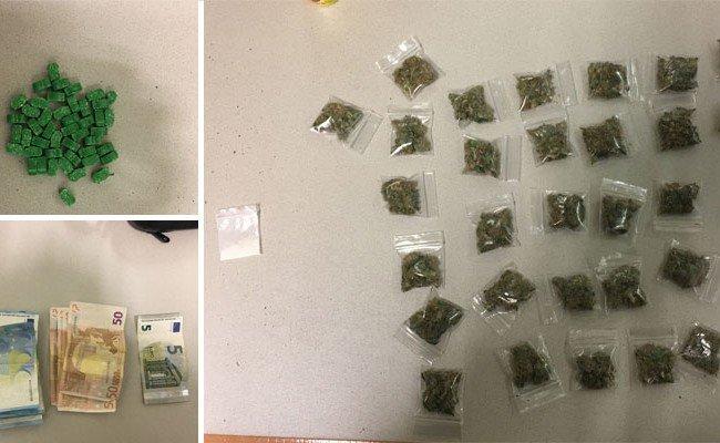 Zahlreiche Drogen wurden in dem Auto der Teenager entdeckt.