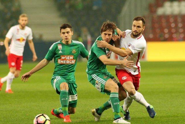 Rapid konnte sich am Sonntag gegen Salzburg nicht durchsetzen.