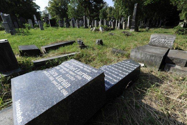 Am jüdischen Teil des Zentralfriedhofs gab es bereits wiederholt Vandalismus