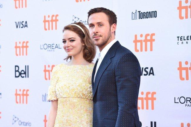 """Emma Stone und Ryan Gosling beim Promoten ihres neuen Film """"La La Land"""""""
