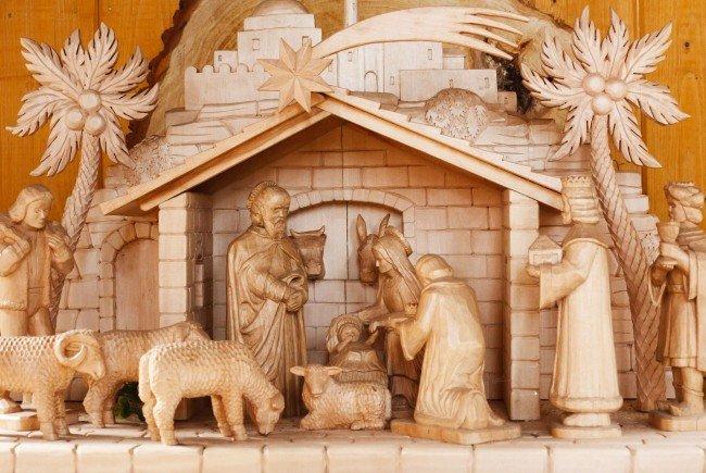 Unter anderem im Angebot: Krippenfiguren aus dem Geburtsort von Jesus