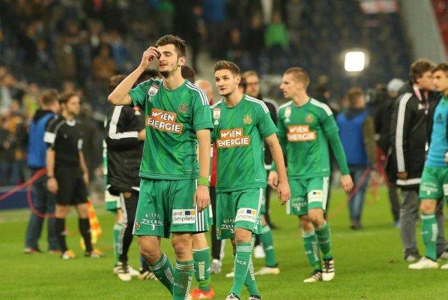 Kein siegreicher Sonntag für den SK Rapid Wien.