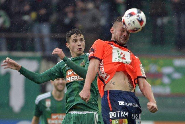 (v.l.), Tamas Szanto (Rapid), Philipp Prosenik (WAC) im Spiel der Fußball tipico Bundesliga zwischen SK Rapid Wien und RZ Pellets WAC