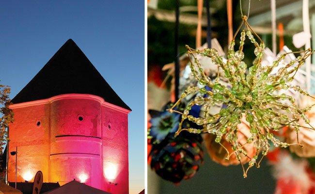 Im Schloss Neugebäude findet der traditionelle Adventmarkt statt
