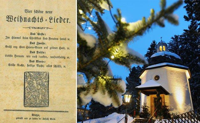 """Erster Textdruck von """"Stille Nacht"""" in Wien aufgetaucht."""