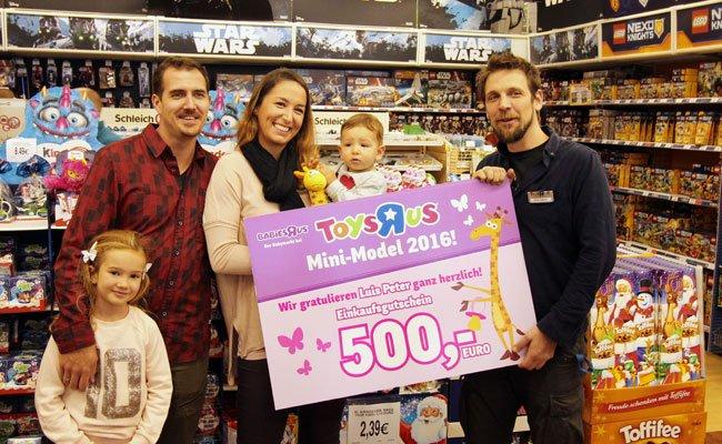 "Luis Peter ist das diesjährige Toys""R""Us Mini-Model."
