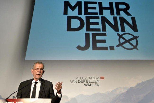 Van der Bellen beim (nochmaligen) Wahlkampfauftakt.