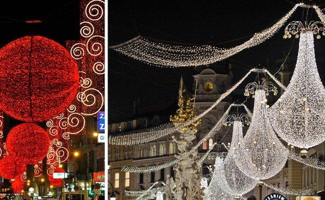 Alle Jahre wieder: Die Wiener Weihnachtsbeleuchtung wird montiert