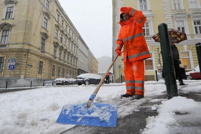 Pünktlich am 1. Dezember fiel in Wien der erste Schnee dieses Winters.