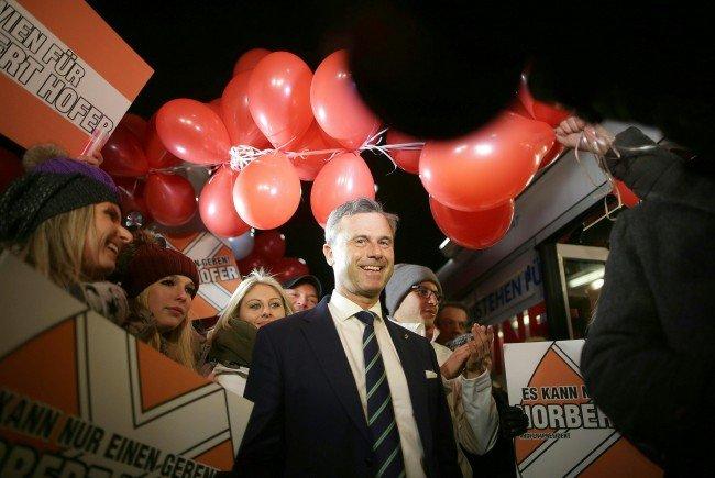 Großer Wahlkampfabschluss von Norbert Hofer vor der Bundespräsidentenwahl.