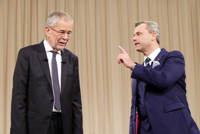 Die beiden Präsidentschaftskandidaten Alexander Van der Bellen und Norbert Hofer.