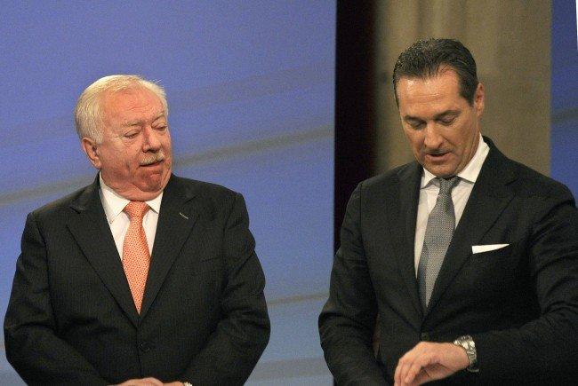 Michael Häupl (SPÖ) und Heinz-Christian Strache (FPÖ).