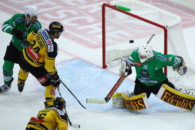 Die Highlights vom Spiel Vienna Capitals gegen Ljubljana im Video.