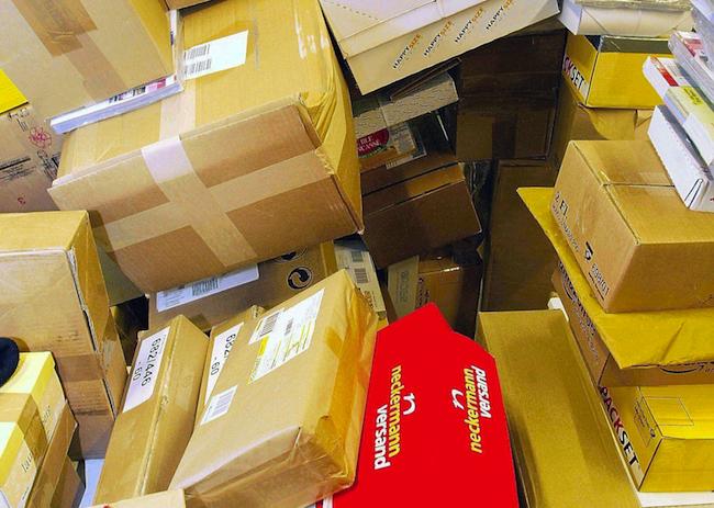 Ein erhöhtes Sendungsaufkommen hat die Post vor Weihnachten zu bearbeiten
