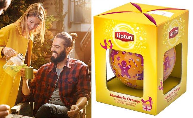 Originelle Lipton-Weihnachtskugeln mit Tee zu gewinnen!