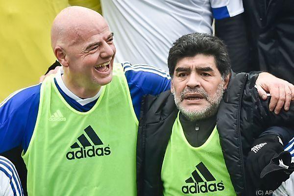 Infantinos Modell wird auch von Maradona gutgeheißen