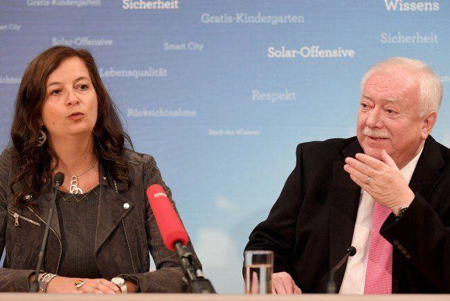 Stadträtin Ulli Sima und Bürgermeister Michael Häupl von der SPÖ.
