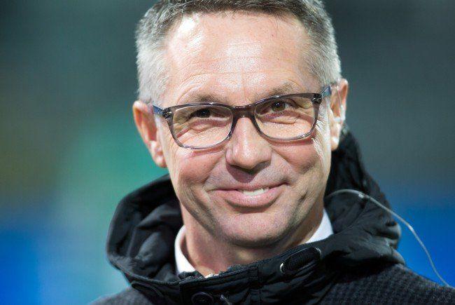 Damir Canadi startete mit Rapid Wien in die Frühjahrsvorbereitung.