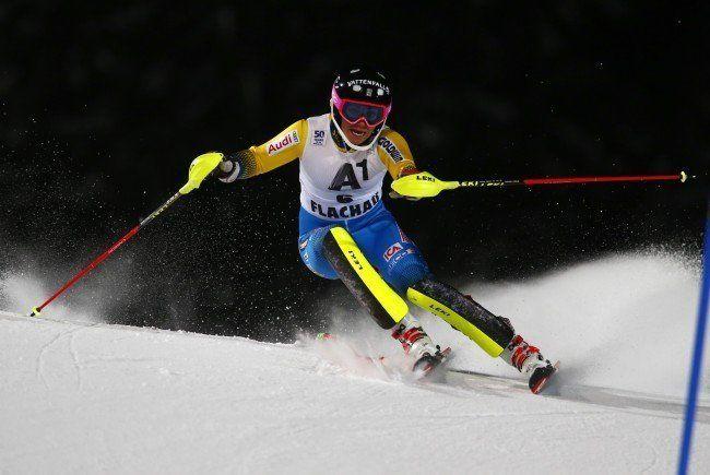 Frida Hansdotter war im heutigen Slalom nicht zu schlagen.