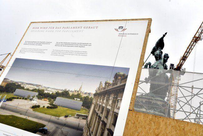 Der Rohbau der Parlaments-Ausweichquartiere ist fertig