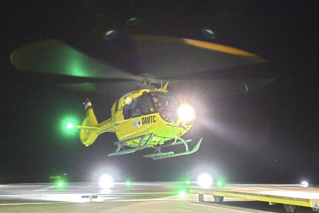 """Ein """"Christophorus""""-Hubschrauber war bei dem Unfall im Einsatz"""