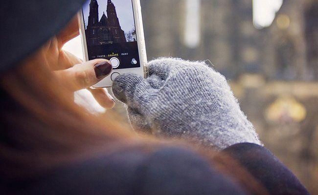 Auch Smartphones sind kälteempfindlich.
