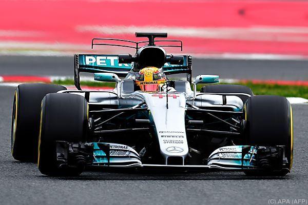 Lewis Hamilton klar Schnellster in den Testfahrten