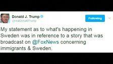 Trump will Schweden-Aussage erklären