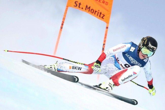 Lara Gut ist beim Einfahren für den Kombislalom in St. Moritz gestürzt.