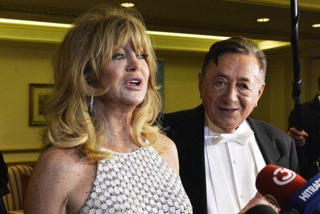 Goldie Hawn und Richard Lugner vor dem Wiener Opernball.