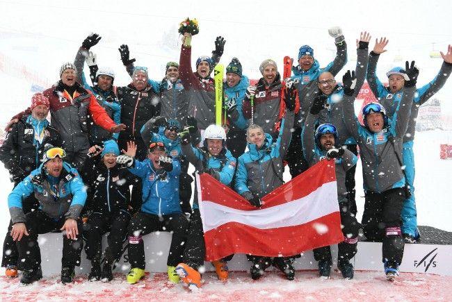 Das Herren-Team des ÖSV darf sich über sechs Medaillen bei der Ski-WM freuen.