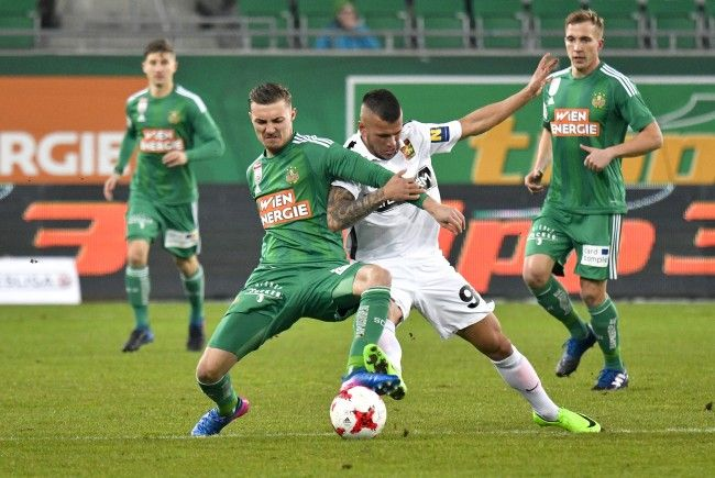 Rapid Wien kam gegen Admira Wacker Mödling nicht über ein 0:0 hinaus.