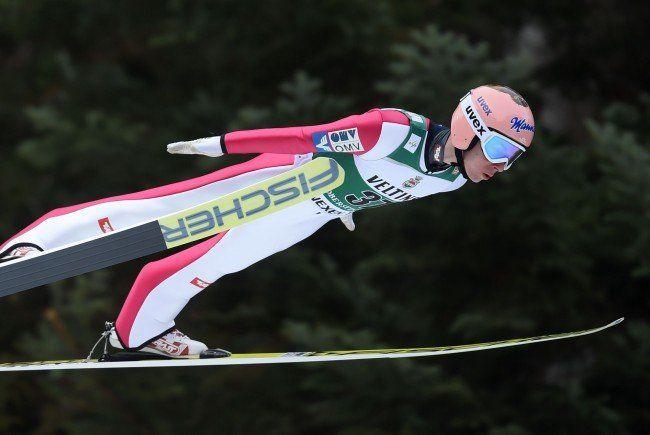 Stefan Kraft zeigte in Oberstdorf eine sehr starke Leistung.