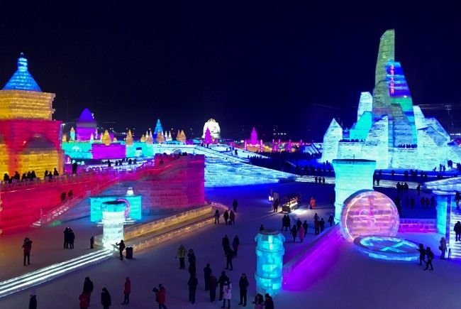 Spektakuläres Eisfestival in China