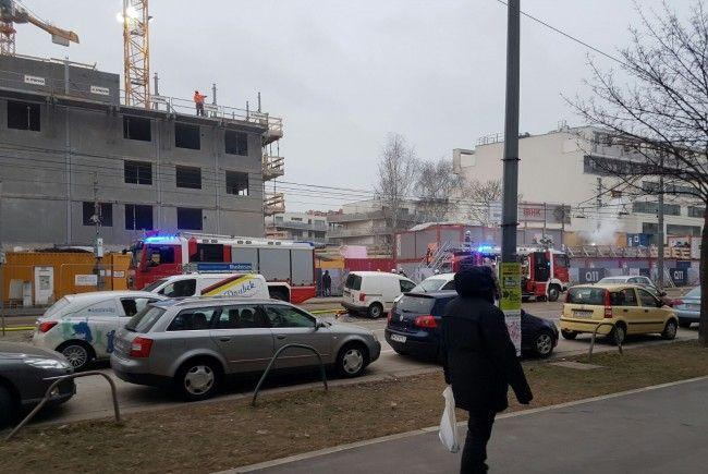Brandeinsatz in Wien-Simmering.