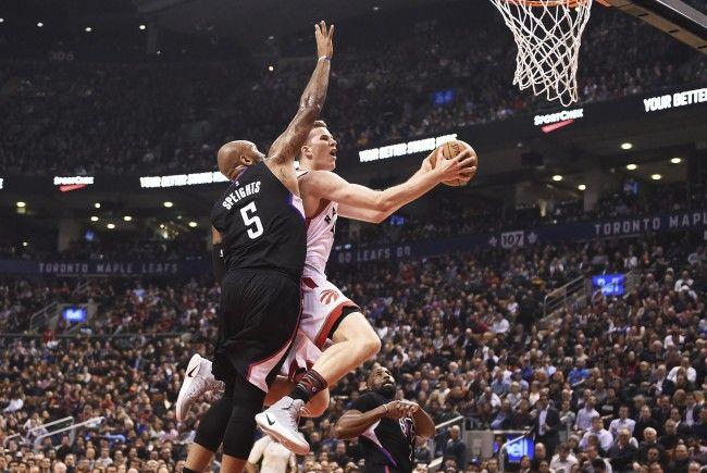 Pöltl im Spiel gegen die LA Clippers