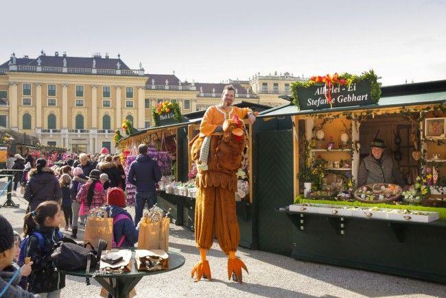 Der 15. Ostermarkt beim Schloß Schönbrunn bietet wieder ein abwechslungsreiches Rahmenprogramm