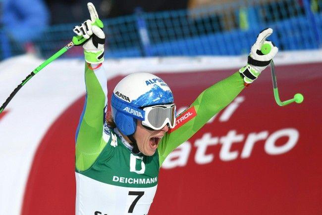 Ilka Stuhec holt die Goldmedaille bei der Damen-Abfahrt in St. Moritz