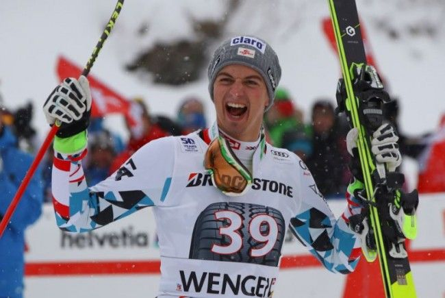 In Wengen holte Frederic Berthold den dritten Platz.