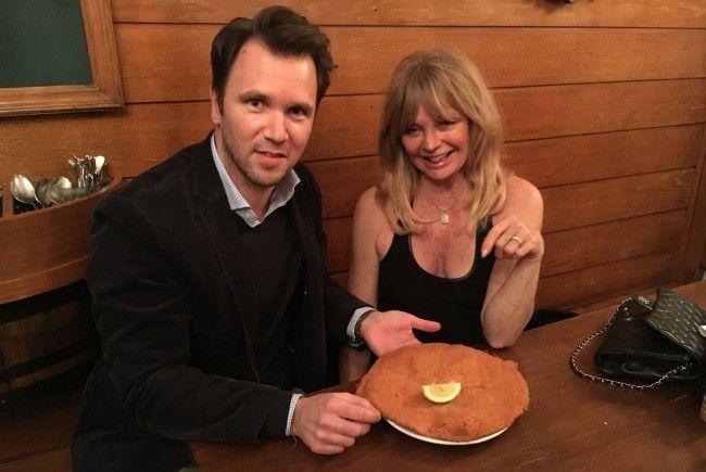 Goldie Hawn genoss beim Figlmüller ihr Wiener Schnitzel