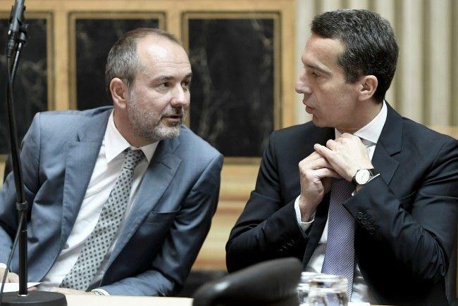 """""""Verfassungswidrig"""": Kern (r.) und Drozda lehnen Pläne Sobotkas ab"""