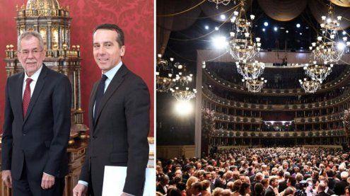 Politiker am Opernball-Parkett