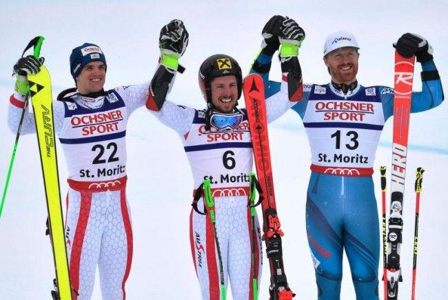 Zwei Österreicher und ein Norweger auf dem Podest