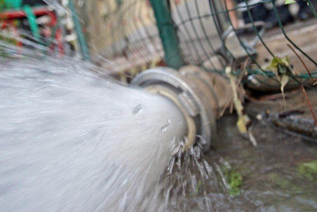 Wasserrohrbruch am Mittwoch in der City.