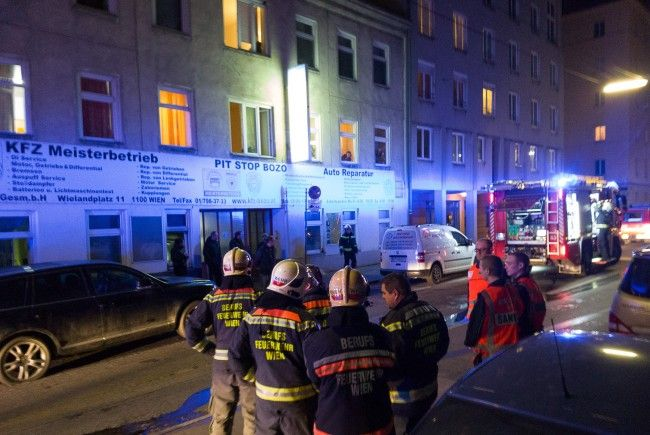 Küchenbrand in Wien-Favoriten.