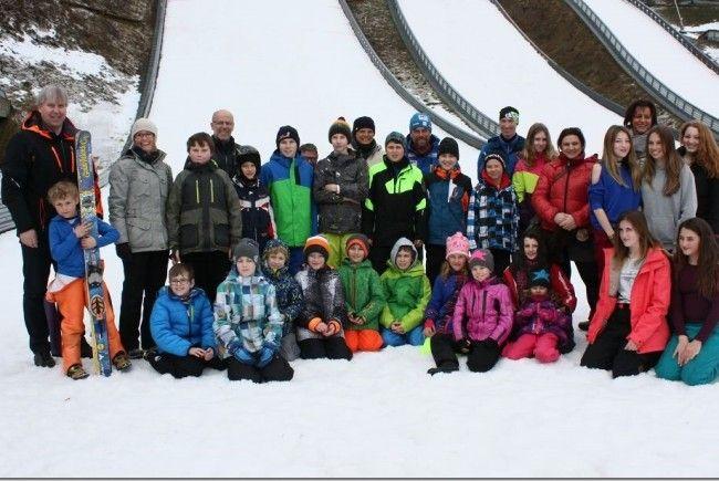 HS Bludenz beim Nordischen Skitag in Tschagguns