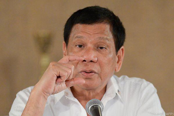 Duterte versteht sich nicht auf diplomatische Gepflogenheiten